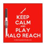 [Skateboard] keep calm and play halo reach  Dry-erase Boards