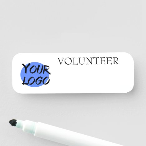 Dry Erase Business Customizable Volunteer Reusable Name Tag