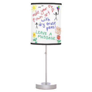 DRY ERASE LAMP works just like a dry erase board!