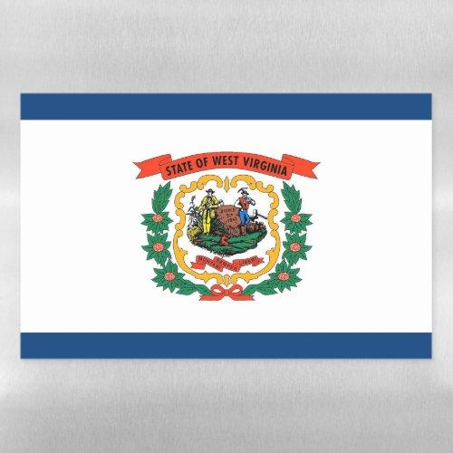 Dry Erase Magnetic Sheet flag of West Virginia