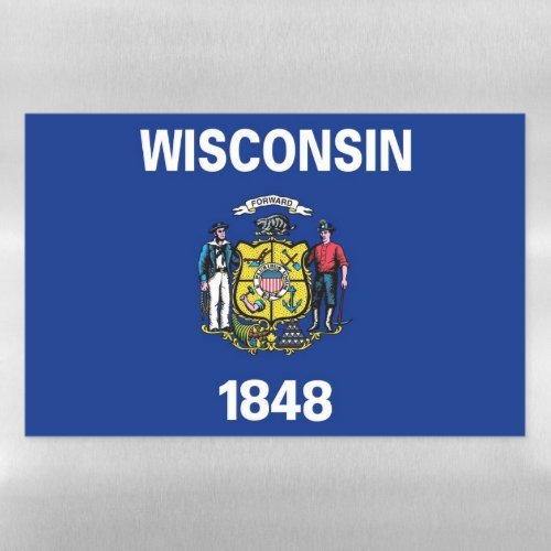 Dry Erase Magnetic Sheet flag of Wisconsin