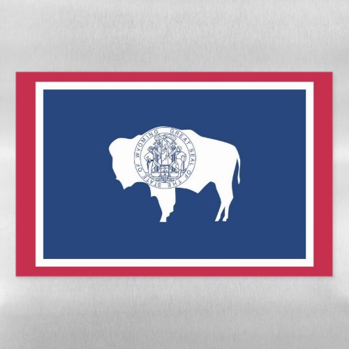 Dry Erase Magnetic Sheet flag of Wyoming