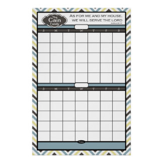 Dry Erase Wall Calendar (Frame not included) Poster