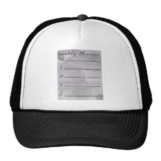 Dry erase weekly planner trucker hat