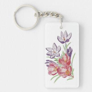 Dry flowers key chain