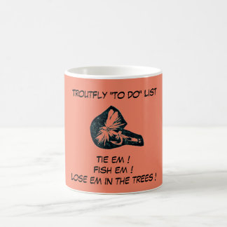 """""""Dry Fly Red - Trout Fly """"To Do List"""" Mug"""