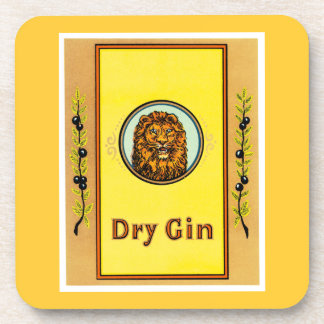 Dry Gin Lion Drink Coaster
