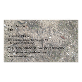 Dry Grass And Stony Ground Close Up Double-Sided Standard Business Cards (Pack Of 100)