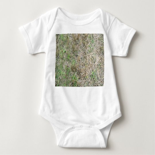 Dry Grass Background Texture Baby Bodysuit