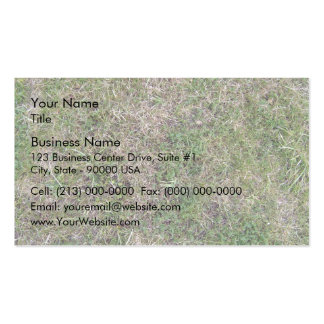 Dry Green Grass Ground Background Textures Double-Sided Standard Business Cards (Pack Of 100)