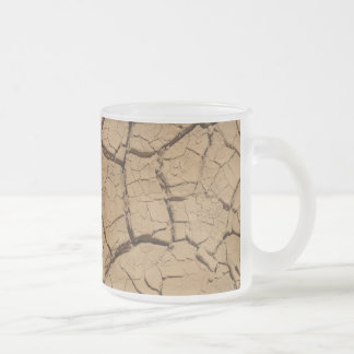 Dry ground in Death Valley Frosted Glass Coffee Mug