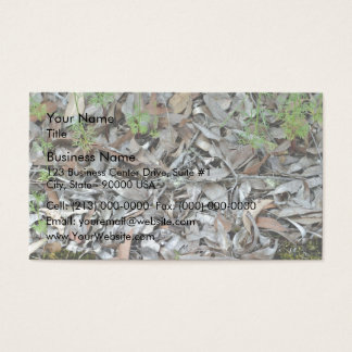 Dry gum leaf background texture business card
