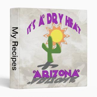 Dry Heat Arizona 3 Ring Binder