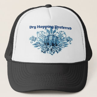 DRY HOPPING PREFERRED VINTAGE BEER KEG PRINT (BLUE TRUCKER HAT