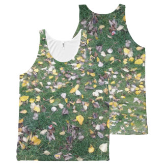 Dry Leaves - Custom All-Over Printed Unisex Tank All-Over Print Tank Top
