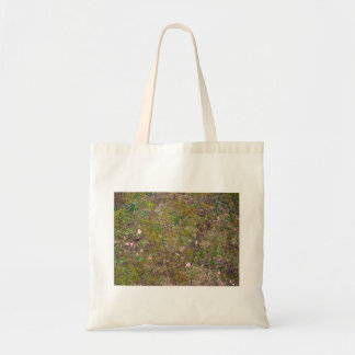 Dry Leaves On Mixed Grass Ground Canvas Bags