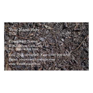 Dry Leaves Texture On Ground Business Card