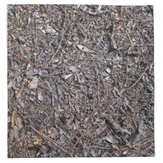 Dry Leaves Texture On Ground Printed Napkin