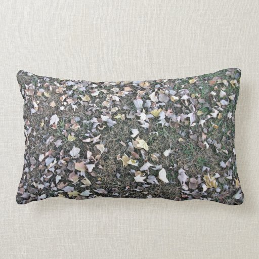 Dry Maple Leaves On Grass Pillow