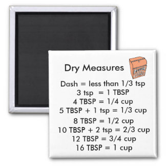 Dry Measurements SQUARE Magnet