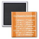 Dry Measuring Equivalents Orange Magnet