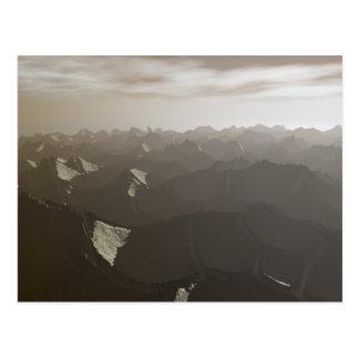 Dry Mountains Drought Postcard