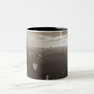 Dry Mountains Drought Two-Tone Coffee Mug