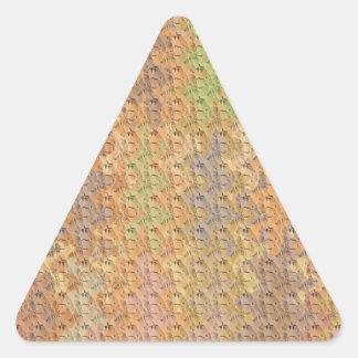 Dry Mud   BREAKER 3d cooler color floral wave (2) Triangle Sticker