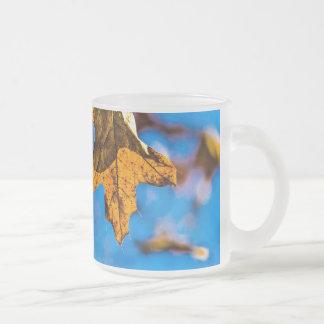 Dry oak leaf - Spring is nor far off 10 Oz Frosted Glass Coffee Mug