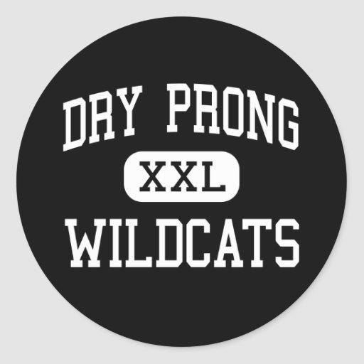 Dry Prong - Wildcats - Junior - Dry Prong Round Sticker