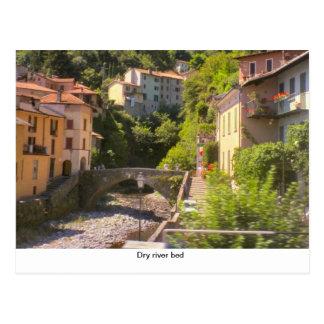 Dry river bed, Lake Como Postcard