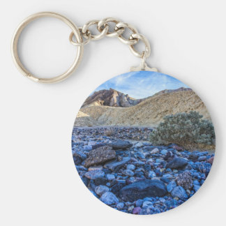 Dry Riverbed and Landscape Basic Round Button Keychain