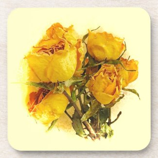 Dry Roses Drink Coaster
