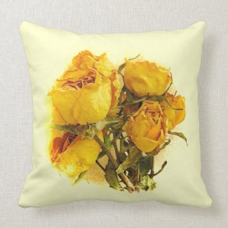Dry Roses Pillow