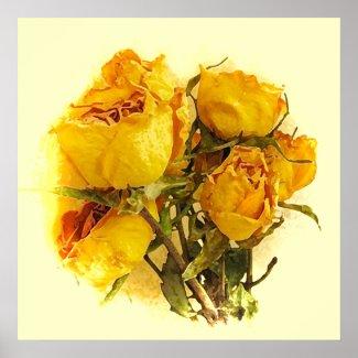 Dry Roses print