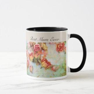 Dry roses vintage design mug