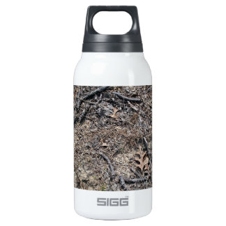 Dry Short Grass and Leaves Background 10 Oz Insulated SIGG Thermos Water Bottle