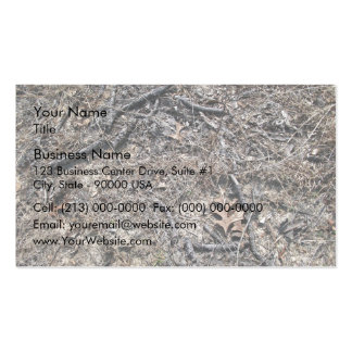 Dry Short Grass and Leaves Background Double-Sided Standard Business Cards (Pack Of 100)
