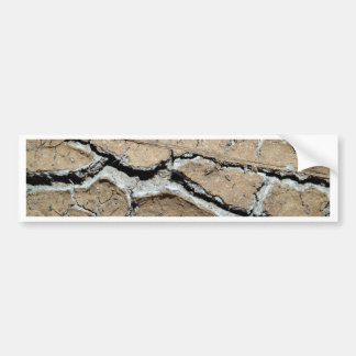dry  soil  / crack earth bumper sticker