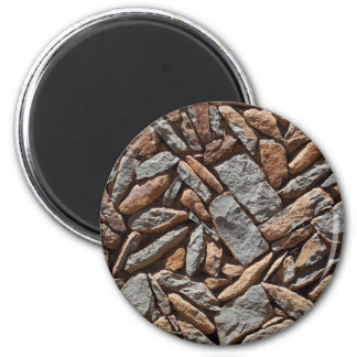 Dry stone wall 2 inch round magnet