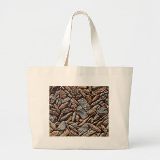 Dry stone wall large tote bag