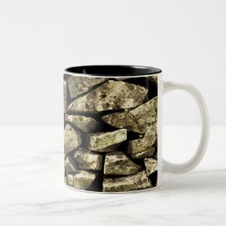 dry stone wall Two-Tone coffee mug