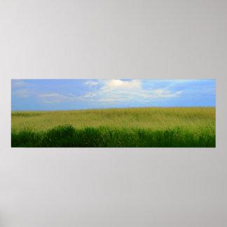 Dry Storm Over Oklahoma Grasslands I (Color Satur) Poster