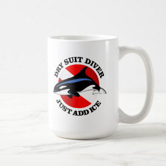 Dry Suit Diver Coffee Mugs