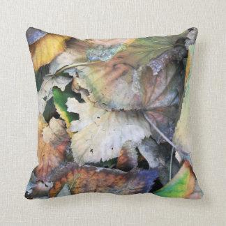 Dry Tilia Leaves Throw Pillow