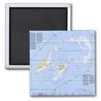 Dry Tortugas Map Magnet