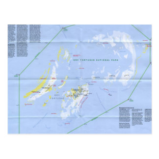 Dry Tortugas Map Postcard