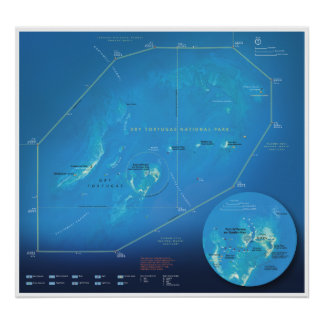 Dry Tortugas map poster
