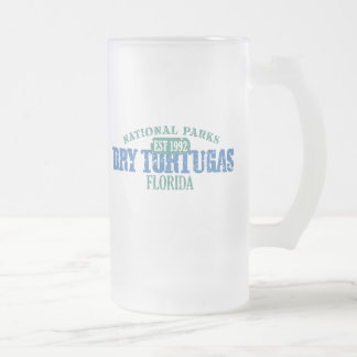 Dry Tortugas National Park Frosted Glass Beer Mug