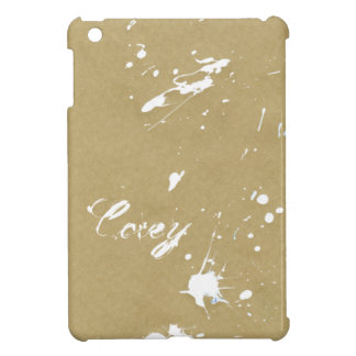 Dry White Paint Splatter on Brown Paper iPad Mini Covers